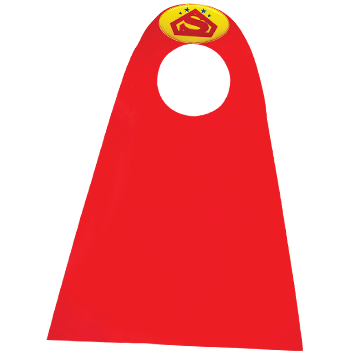 "<span style=""color:#e1132a;""> Cape Superman </span>"