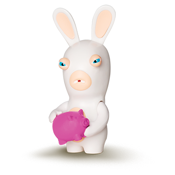 "<span style=""color:#ffff;"">Lapin Tirelire</span>"